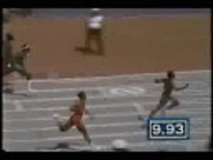 Video: Calvin Smith 100 metres Dash World Record 9.93 (1983)